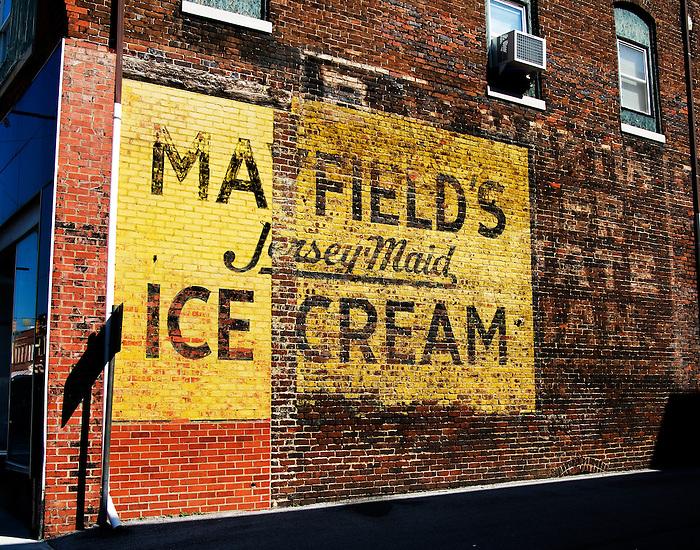 Mayfield Ice Cream advertisement, Harriman Tennessee