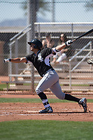 Chicago White Sox catcher Seby Zavala (47) during a Minor League Spring Training game against the Cincinnati Reds at the Cincinnati Reds Training Complex on March 28, 2018 in Goodyear, Arizona. (Zachary Lucy/Four Seam Images)