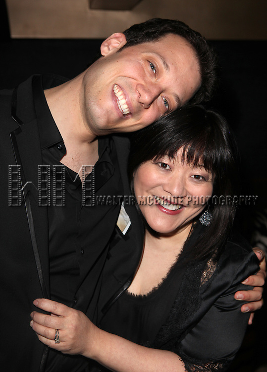 John Tartaglia & Ann Harada attending the Vineyard Theatre's 30th Anniversary Gala Celebration Cocktail Reception at the Edison Ballroom in New York City on 3/18/2013