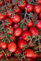 Red tomatoes for sale in the market at Venice, Italy