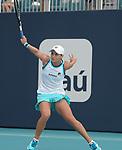 March 30, 2019: Ashleigh Barty (AUS) defeated Karolina Pliskova (CZE) 7-6(1), 6-3, at the Miami Open being played at Hard Rock Stadium in Miami, Florida. ©Karla Kinne/Tennisclix 2010/CSM