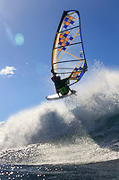 Pascal Hardy (CAN) windsurfing in Ho'okipa Beach Park (Maui, Hawaii, USA)