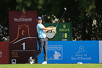 Sean Crocker (USA) during round 2, Ras Al Khaimah Challenge Tour Grand Final played at Al Hamra Golf Club, Ras Al Khaimah, UAE. 01/11/2018<br /> Picture: Golffile | Phil Inglis<br /> <br /> All photo usage must carry mandatory copyright credit (&copy; Golffile | Phil Inglis)