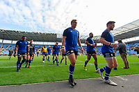 Jack Walker and the rest of the Bath Rugby team leave the field after the pre-match warm-up. Heineken Champions Cup match, between Wasps and Bath Rugby on October 20, 2018 at the Ricoh Arena in Coventry, England. Photo by: Patrick Khachfe / Onside Images