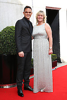 Gareth Gates, Mother Wendy Broadbent Farry at the Tesco Mum of the Year Awards 2014 held at the Savoy, London 23/03/2014 Picture by: Henry Harris / Featureflash