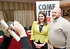 Stonewall and Liberal Democrats LGBTQ fringe meeting.<br /> Bournemouth, Great Britain <br /> 17th September 2017. <br /> <br /> Ruth Hunt <br /> Chief Executive of Stonewall <br /> <br /> Jo Swinson <br /> Deputy Leader of the Liberal Democrats <br /> <br /> Photograph by Elliott Franks <br /> Image licensed to Elliott Franks Photography Services