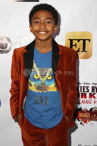 LOS ANGELES, CA - NOVEMBER 7: Miles Brown at the Kids In The Spotlight's Movies By Kids, For Kids Film Awards at Fox Studios in Los Angeles, California on November 7, 2015. Credit: David Edwards/MediaPunch