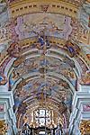 Święta Lipka, 2009-08-13. Sanktuarium Maryjne - Bazylika pw. Nawiedzenia NM Panny w Świętej Lipce, sklepienie nawy głównej