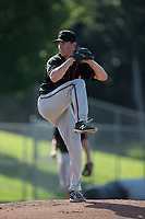 Delmarva Shorebirds starting pitcher Zach Muckenhirn (35) in action against the Kannapolis Intimidators at Kannapolis Intimidators Stadium on July 2, 2017 in Kannapolis, North Carolina.  The Shorebirds defeated the Intimidators 5-4.  (Brian Westerholt/Four Seam Images)
