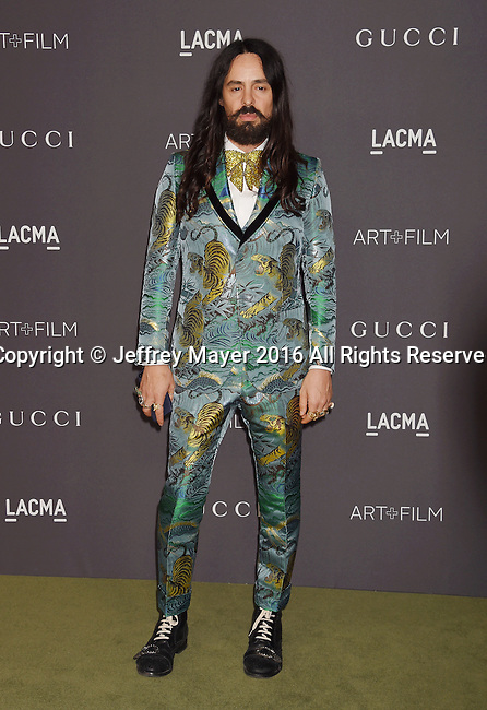 LOS ANGELES, CA - OCTOBER 29: Gucci Creative Director Alessandro Michele attends the 2016 LACMA Art + Film Gala honoring Robert Irwin and Kathryn Bigelow presented by Gucci at LACMA on October 29, 2016 in Los Angeles, California.