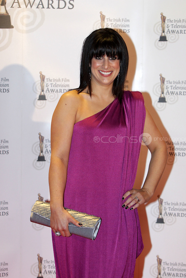 12/2/11 Lucy Kennedy on the red carpet at the 8th Irish Film and Television Awards at the Convention centre in Dublin. Picture:Arthur Carron/Collins