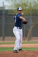 San Diego Padres relief pitcher Noel Vela (54) during a Minor League Spring Training game against the Seattle Mariners at Peoria Sports Complex on March 24, 2018 in Peoria, Arizona. (Zachary Lucy/Four Seam Images)