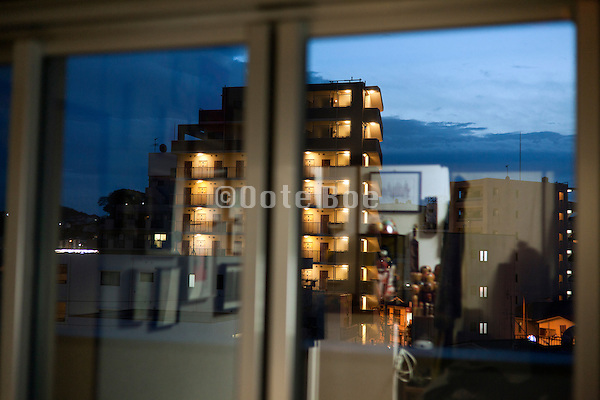 urban residential neighborhood window view Yokosuka Japan