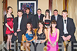 DEBS: having a good time at their Debs in The Abbey Gate Hotel, Tralee on Saturday night, Front l-r: Michelle Behan, Loukas Murphy, Nicole Moriarty, Laura Hoffman, Ciara Leen and John C O'Connor. Back l-r: Owais Gohar, Shane Daly, Niamh Finucane and Eric Heaslip.......... . ............................... ..........
