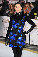 "LONDON, UK. November 20, 2019: Naomi Scott arriving for the ""Charlie's Angels"" premiere at the Curzon Mayfair, London.<br /> Picture: Steve Vas/Featureflash"