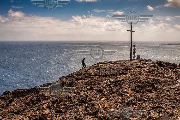 A cross marks the extremity of the island on its west coast. In classical times this was the westernmost point of land known. the smallest of the Canary Islands and is the farthest west and south /Felix Features