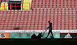 Groundsman prepares the pitch during the English League One match at the Bramall Lane Stadium, Sheffield. Picture date: November 19th, 2016. Pic Simon Bellis/Sportimage