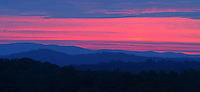 Blue Ridge mountain scene over Charlottesville, Va.  Photo/ Andrew Shurtleff