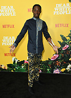 "01 August 2019 - Los Angeles, California - Jeremy Tardy. Netflix's ""Dear White People"" Season 3 Los Angeles Premiere held at TRegal Cinemas LA Live. Photo Credit: Birdie Thompson/AdMedia"