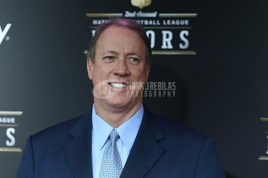 Feb. 2, 2013; New Orleans, LA, USA:  Buffalo Bills former quarterback Jim Kelly on the red carpet prior to the Super Bowl XLVII NFL Honors award show at Mahalia Jackson Theater. Mandatory Credit: Mark J. Rebilas-USA TODAY Sports