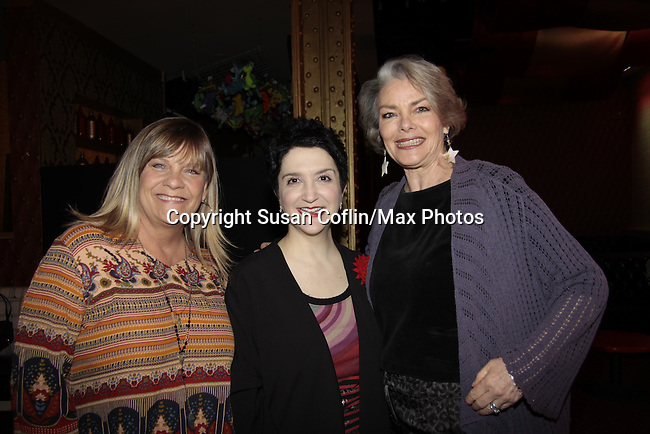 Kim Zimmer & Lauren Cohn (Mama Mia - Broadway) & Denise Pence - GL - 11th Annual Daytime Stars & Strikes Event for Autism - 2015 on April 19, 2015 hosted by Guiding Light's Jerry ver Dorn (& OLTL) and Liz Keifer at Bowlmor Lanes Times Square, New York City, New York. (Photos by Sue Coflin/Max Photos)