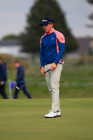 Grant Forrest (SCO) on the 3rd green during Round 2 of the Betfred British Masters 2019 at Hillside Golf Club, Southport, Lancashire, England. 10/05/19<br /> <br /> Picture: Thos Caffrey / Golffile<br /> <br /> All photos usage must carry mandatory copyright credit (&copy; Golffile | Thos Caffrey)