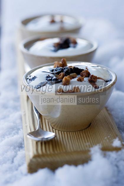 Europe/France/Rhone-Alpes/73/Savoie/Val-Thorens: Soupe en chaud-froid de chataignes de l'Ardéche à l'écume
