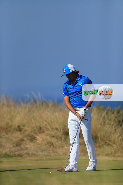 Rickie FOWLER (USA) during round two of  The 142th Open Championship Muirfield, Gullane, East Lothian, Scotland 19/7/2013<br /> Picture Fran Caffrey www.golffile.ie: