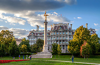 First Division Monument and Old Executive Office Building Washington DC
