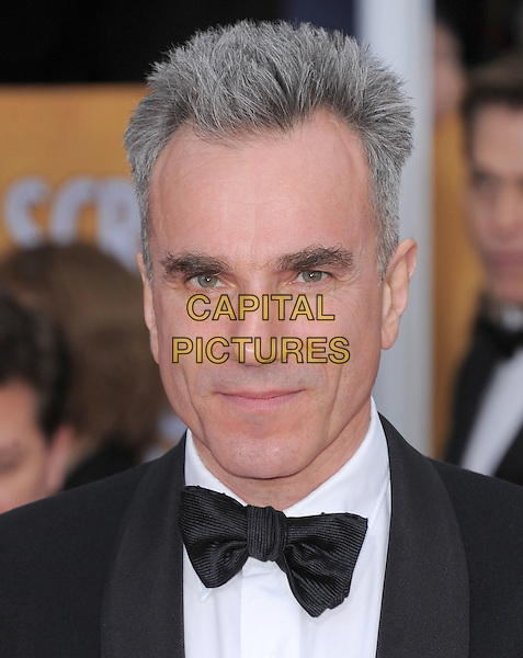 Daniel Day Lewis.Arrivals at the 19th Annual Screen Actors Guild Awards at the Shrine Auditorium in Los Angeles, California, USA..27th January 2013.SAG SAGs headshot portrait black white bow tie tuxedo .CAP/DVS.©DVS/Capital Pictures.