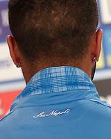 presentazione maglie<br /> ritiro precampionato Napoli Calcio a  Dimaro  26Luglio 2014<br /> <br /> Preseason summer training of Italy soccer team  SSC Napoli  in Dimaro Italy July 26, 2014