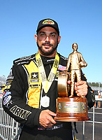 Mar 19, 2017; Gainesville , FL, USA; NHRA top fuel driver Tony Schumacher celebrates after winning the Gatornationals at Gainesville Raceway. Mandatory Credit: Mark J. Rebilas-USA TODAY Sports