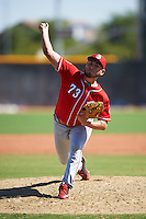 Cincinnati Reds pitcher Carlos Machorro (73) during an Instructional League game against the Texas Rangers on October 4, 2016 at the Surprise Stadium Complex in Surprise, Arizona.  (Mike Janes/Four Seam Images)