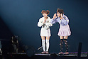 Nana Suzuki and Mikan, Feb 28, 2015 : Tokyo, The 20th Tokyo Girls Collection 2015 Spring/Summer was held at Yoyogi National First Gymnasium. - Michael Steinebach / Aflo