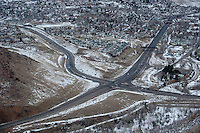 US-6 intersects with Highway 93 near Golden, Colorado, Thursday, January 12, 2012. Golden is voting on weather or not to complete the beltway around Denver...Photo by Matt Nager