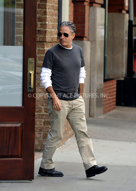 ACEPIXS.COM<br /> <br /> September 19 2014, New York City<br /> <br /> TV personality Jon Stewart walks in Tribeca on September 19 2014 in New York City<br /> <br /> By Line: Curtis Means/ACE Pictures<br /> <br /> ACE Pictures, Inc.<br /> www.acepixs.com<br /> Email: info@acepixs.com<br /> Tel: 646 769 0430