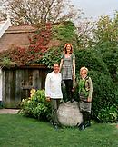 AUSTRIA, Schutzen Am Gerbige, chef Walter Eselbock with his wife Eveline and daughter Stephanie, Taubenkobel Restaurant, Burgenland