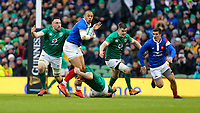 Sunday10th March 2019 | Ireland vs France<br /> <br /> Ga&euml;l Fickou is tackled by Peter O&rsquo;Mahony and Jack Conan during the Guinness 6 Nations clash between Ireland and France at the Aviva Stadium, Lansdowne Road, Dublin, Ireland. Photo by John Dickson / DICKSONDIGITAL