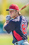4 March 2013: Minnesota Twins catcher Danny Lehmann awaits his turn in the batting cage prior to a Spring Training game against the St. Louis Cardinals at Roger Dean Stadium in Jupiter, Florida. The Twins shut out the Cardinals 7-0 in Grapefruit League play. Mandatory Credit: Ed Wolfstein Photo *** RAW (NEF) Image File Available ***