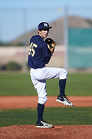 Brandon Cho (45), from Seattle, Washington, while playing for the Padres during the Under Armour Baseball Factory Recruiting Classic at Red Mountain Baseball Complex on December 28, 2017 in Mesa, Arizona. (Zachary Lucy/Four Seam Images)