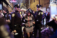 People take part during the annual Halloween parade in New York October 31, 2013 Photo by Kena Betancur / VIEWpress.