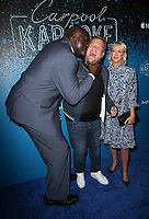 WEST HOLLYWOOD, CA - AUGUST 7: Shaquille O'Neal, James Corden, Julia Carey, at the Carpool Karaoke: The Series on Apple Music Launch Party at Chateau Marmont in West Hollywood, California on August 7, 2017. <br /> CAP/MPI/FS<br /> &copy;FS/MPI/Capital Pictures