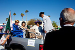 Various club members await their chance to join the Sun City Parade in Sun City, Arizona March 13, 2010. 2010 marks the 50th anniversary of Sun City, the first planned retirement city in the United States.