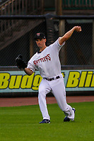 Milwaukee Brewers pitcher Brent Suter (26) during a rehab appearance with the Wisconsin Timber Rattlers in a Midwest League game against the Beloit Snappers on August 30, 2017 at Fox Cities Stadium in Appleton, Wisconsin. Wisconsin defeated Beloit 4-0. (Brad Krause/Four Seam Images)