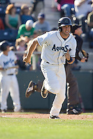 July 18, 2010: Everett AquaSox's Evan Sharpley (11) during a Northwest League game against the Eugene Emeralds at Everett Memorial Stadium in Everett, Washington.