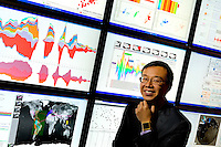 On- location Corporate Portrait photography of Taste Analytics Derek Wang at the Charlotte Visualization Center  on the UNC Charlotte campus.<br /> <br /> Charlotte Photographer - PatrickSchneiderPhoto.com