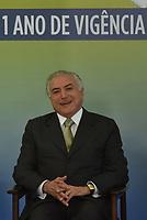 BRASÍLIA, DF, 29.06.2017 - TEMER-DF - O presidente Michel Temer durante Cerimônia de 1 ano da Lei de Responsabilidade das Estatais na manhã desta quinta-feira, 29, no Palácio do Planalto.(Foto: Ricardo Botelho/Brazil Photo Press)