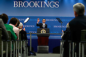 Washington, DC - December 8, 2009 -- United States President Barack Obama waves after speaking about job creation and economic growth at the Brookings Institution on Tuesday, December 8, 2009 in Washington, DC. President Obama said that he hopes new jobs will be created with the implementation of clean energy investments, small business tax credits and infrastructure funding.  .Credit: Mark Wilson / Pool via CNP