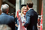 President of the community Cristina Cifuentes and Real Madrid's president Florentino Perez and Sergio Ramos at Seat of Government in Madrid, May 22, 2017. Spain.<br /> (ALTERPHOTOS/BorjaB.Hojas)