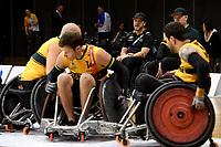Greg Smith (AUS) vs GB<br /> Australian Wheelchair Rugby Team<br /> 2018 IWRF WheelChair Rugby <br /> World Championship / Semi Finals<br /> Sydney  NSW Australia<br /> Thursday 9th August 2018<br /> © Sport the library / Jeff Crow / APC